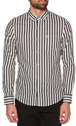 Original Penguin Slim Fit Striped Sport Shirt