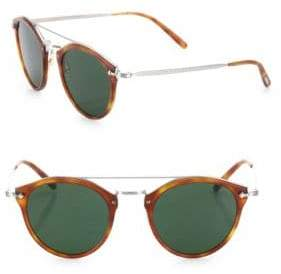 ffbf077627 Oliver Peoples Men s Remick 50MM Round Sunglasses