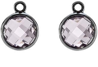 Pandora Elegance Silver Amethyst Earring Charms