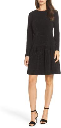 MICHAEL Michael Kors Long Sleeve Pleated Skirt Dress