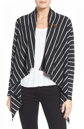 Women's Bobeau One-Button Fleece Wrap Cardigan $58 thestylecure.com