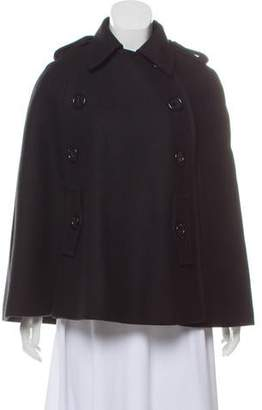 Michael Kors Double-Breasted Wool Cape