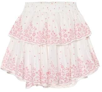 LoveShackFancy Cotton miniskirt