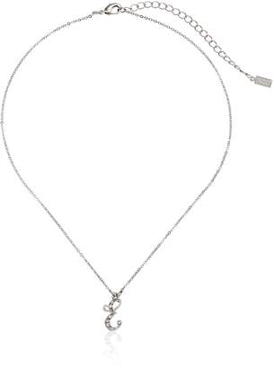 "Michael Kors 1928 Jewelry Crystal Initial ""E"" Pendant Necklace, 16"""