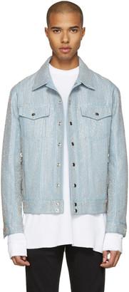 Balmain Blue Embroidered Denim Jacket $5,570 thestylecure.com