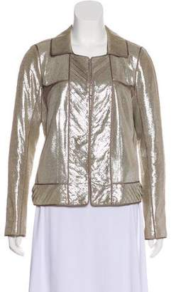 J. Mendel Metallic Leather Jacket