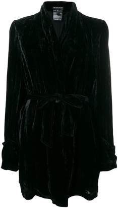 Ann Demeulemeester belted robe-style coat