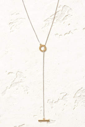 Jenny Bird Silver and Gold Mimi Lariat Necklace