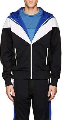 Rag & Bone MEN'S COLORBLOCKED HOODED TRACK JACKET - BLUE SIZE XL