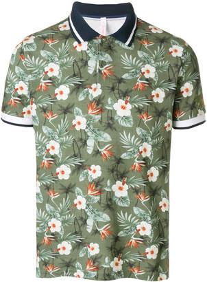 Sun 68 Hawaii print polo shirt