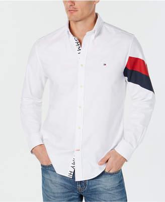 Tommy Hilfiger Men's Welles Custom-Fit Printed Oxford Shirt