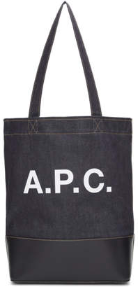 A.P.C. Navy Axel Tote