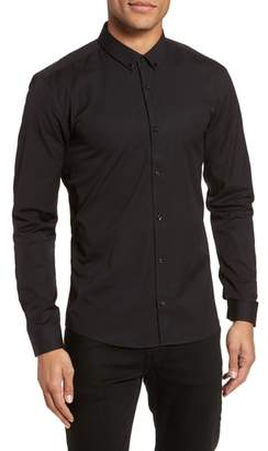 HUGO Ero Slim Fit Solid Cotton Sport Shirt