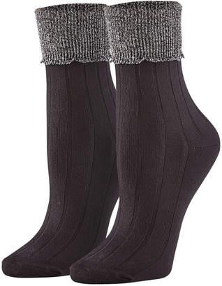 Hue Women 3 Pack Scalloped Turncuff Crew Socks