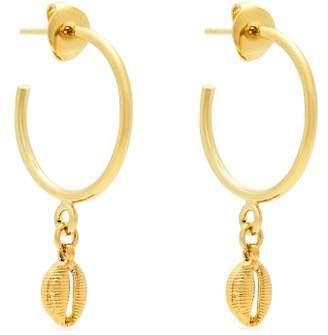 Isabel Marant - Shell Drop Hoop Earrings - Womens - Gold