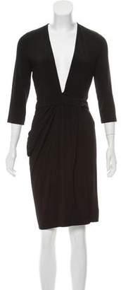 Just Cavalli Long Sleeve Knee Length Dress