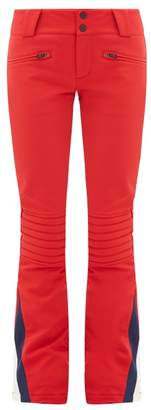 Perfect Moment Chevron Panel Flared Ski Trousers - Womens - Red