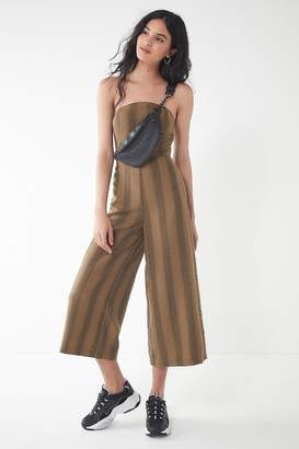 Urban Outfitters Striped Strapless Jumpsuit