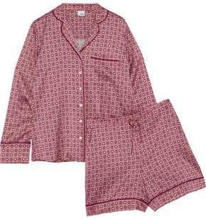 Iris & Ink Dusty Printed Silk-Blend Satin Pajama Set
