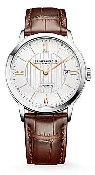 Baume & Mercier Baume& Mercier Baume& Mercier Women's Classima 10263 Stainless Steel& Alligator Strap Watch