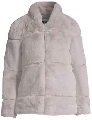 Apparis Sarah Quilted Faux Fur Jacket