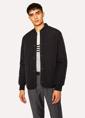 Paul Smith Men's Black Diamond-Quilted Bomber Jacket