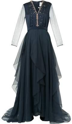 Ingie Paris stone embellished evening dress