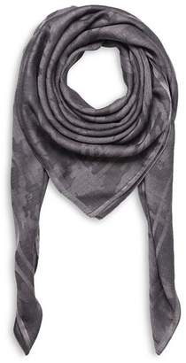 The Kooples Wool & Silk Camouflage Scarf