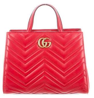 Gucci GG Marmont Matelassé Small Top Handle Bag