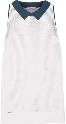 L'Etoile Sport - Stretch-knit Mesh Top - White