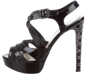 52ac60571d8561 Christian Dior Cannage Platform Sandals