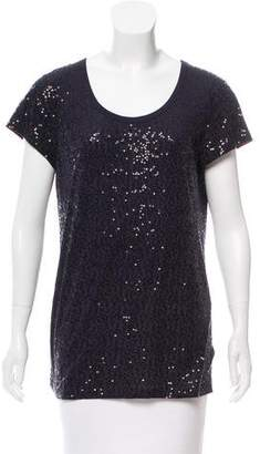 DKNY Sequin Short Sleeve Top