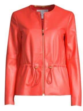 Escada Sport Leather Zip Front Jacket