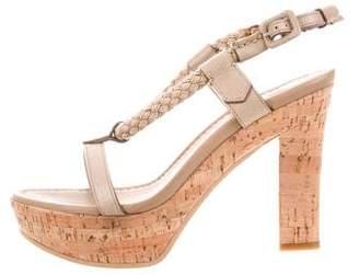 Santoni Wallaby High-Heel Sandals w/ Tags