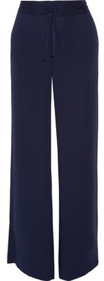 Diane von Furstenberg Davin Stretch-Silk Wide-Leg Pants