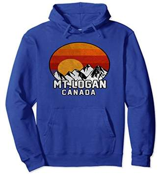 Logan Mt Canada Retro Mountain Sunset Hoodie