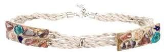 Alberta Ferretti Stone-Embellished Waist Belt w/ Tags