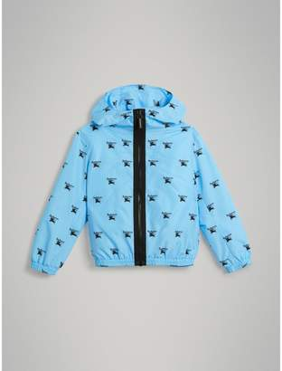 Burberry Childrens Archive Logo Print Lightweight Hooded Jacket