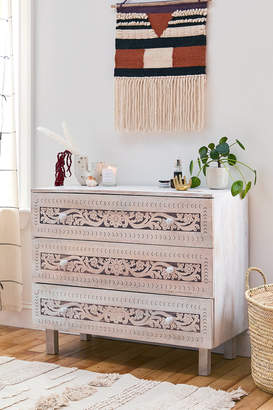 Urban Outfitters Rhiannon Painted Floral 3-Drawer Dresser