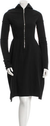 Rick Owens Slit-Accented Zip-Up Tunic $525 thestylecure.com