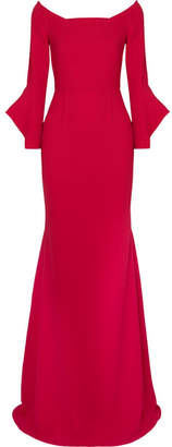 Roland Mouret Coleman Stretch-crepe Gown - Red