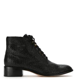 Sarah Chofakian leather ankle length boots