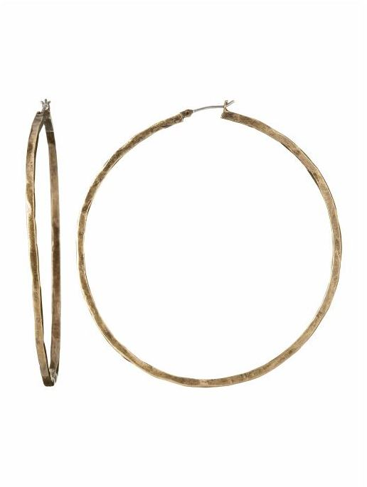 Lucky Brand Large Round Hoops