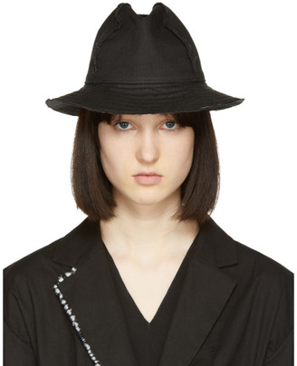 Yohji Yamamoto Black Linen Fedora $700 thestylecure.com