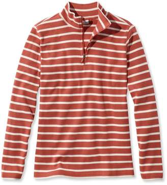 L.L. Bean L.L.Bean Women's French Sailor's Pullover, Long-Sleeve Quarter-Zip