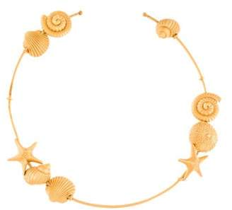 Valentino Starfish & Seashell Choker Necklace Gold Starfish & Seashell Choker Necklace