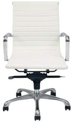 Moe's Home Collection Omega Low Back Office Chair, White