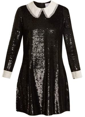 Ashish Wednesday Sequin Embellished Silk Dress - Womens - Black White