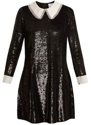Ashish Wednesday Sequin Embellished Silk Dress - Womens - Black White