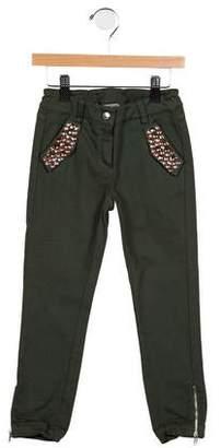 Ermanno Scervino Girls' Embellished Skinny Pants